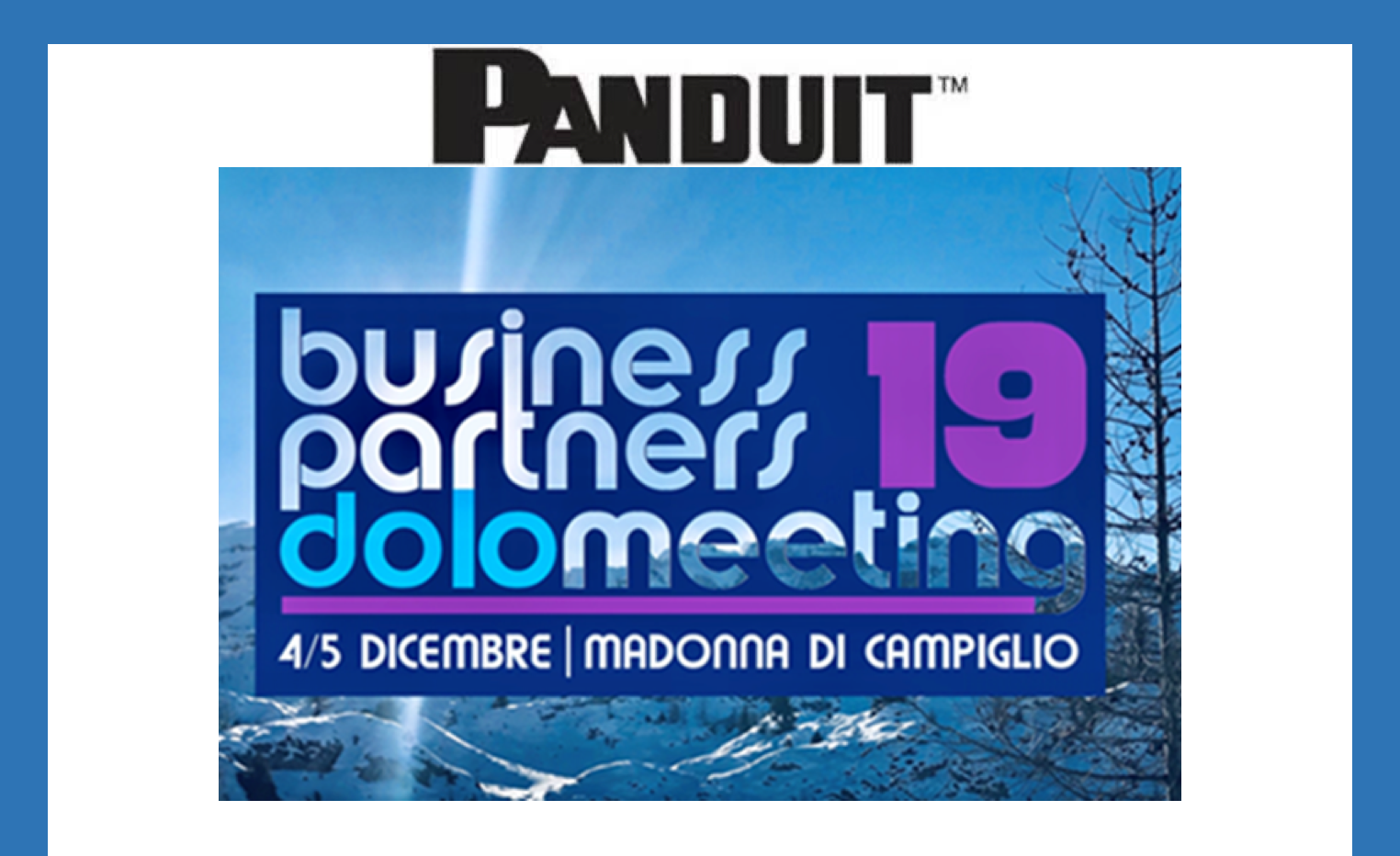 panduit business partners dolomeeting 2019